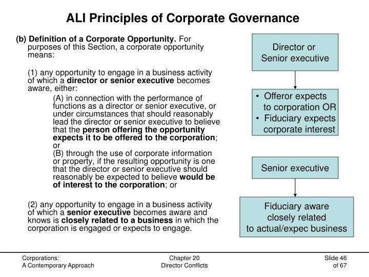 ALI Principles of Corporate Governance