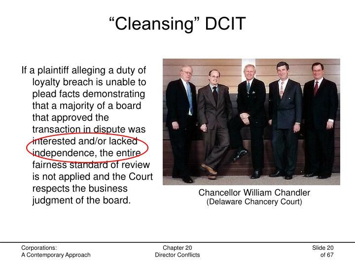 """""""Cleansing"""" DCIT"""