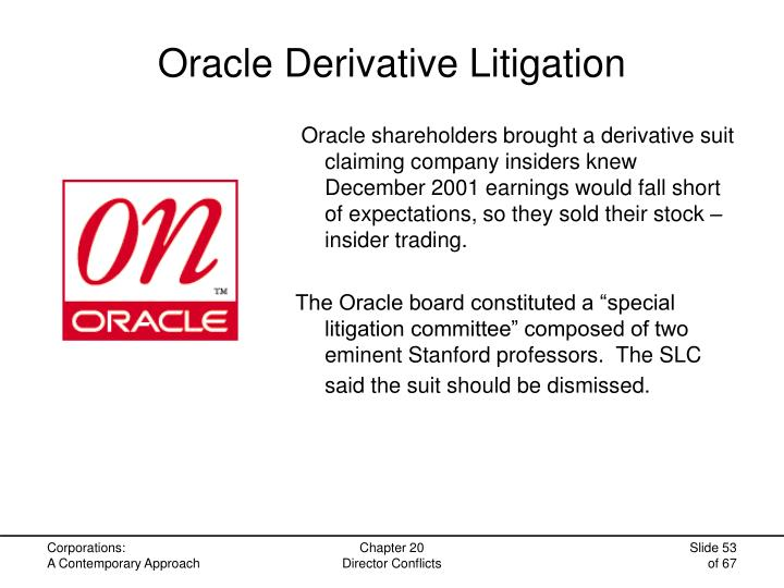 Oracle Derivative Litigation