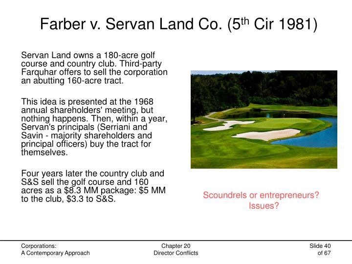 Farber v. Servan Land Co. (5