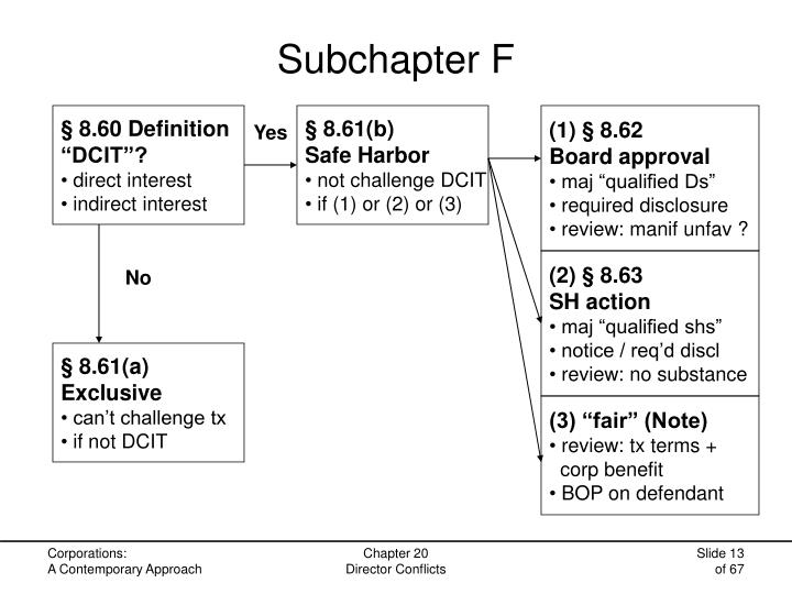 Subchapter F