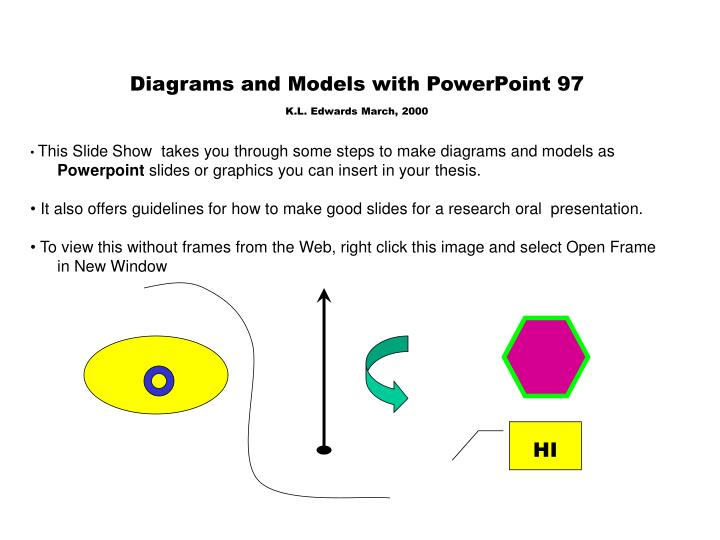 Diagrams and Models with PowerPoint 97