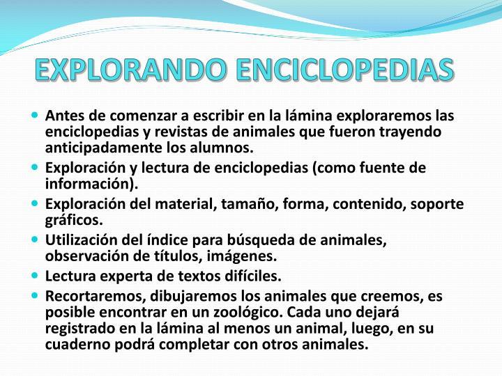 EXPLORANDO ENCICLOPEDIAS