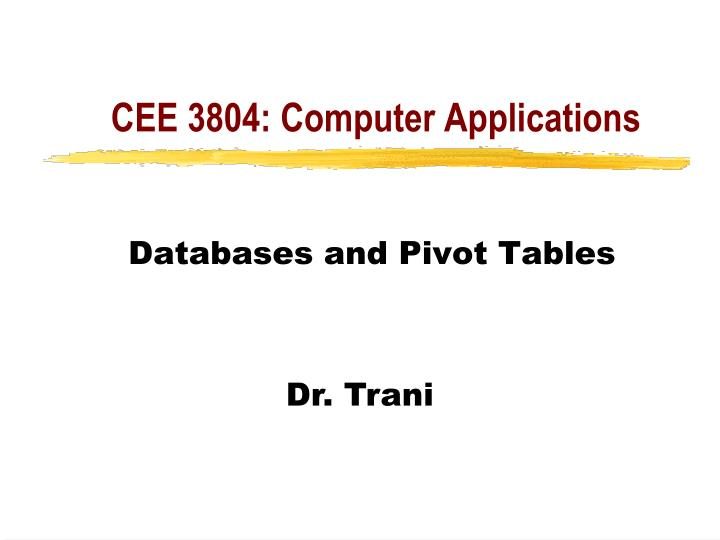 cee 3804 computer applications n.