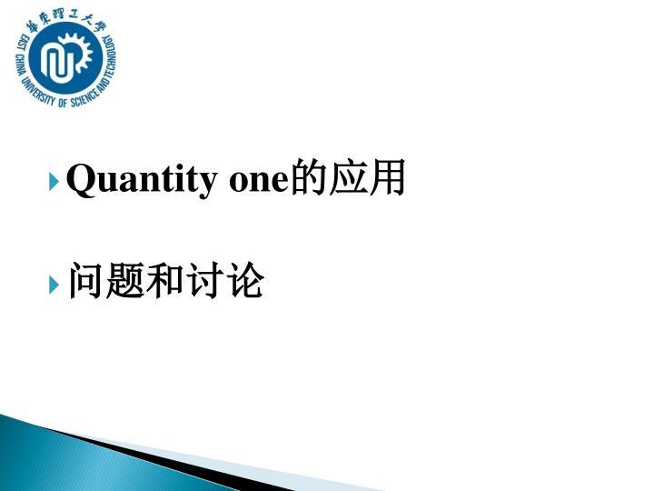 Quantity one