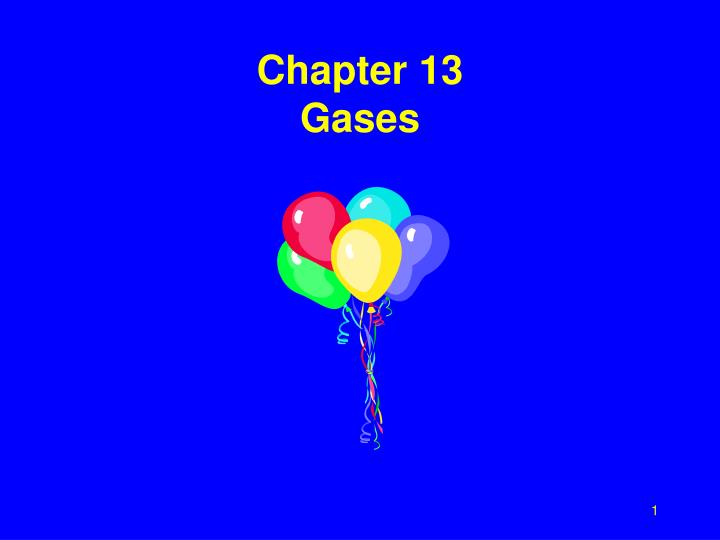 chapter 13 gases n.