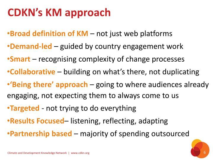 CDKN's KM approach