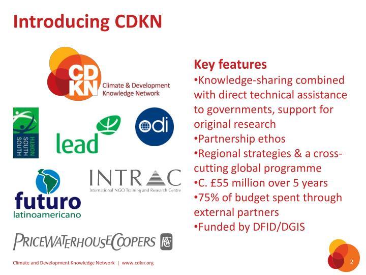 Introducing cdkn