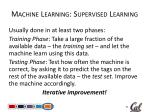 machine learning supervised learning1