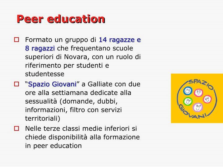 Peer education