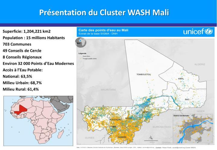 Pr sentation du cluster wash mali