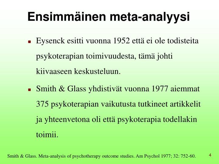 Ensimmäinen meta-analyysi