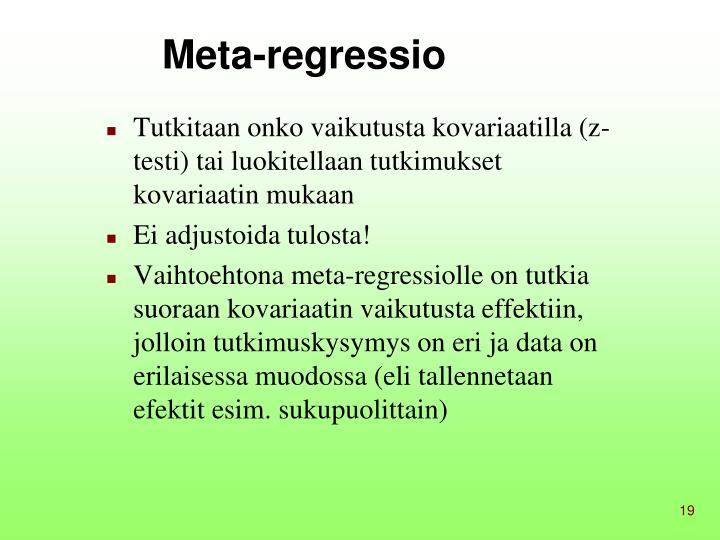 Meta-regressio