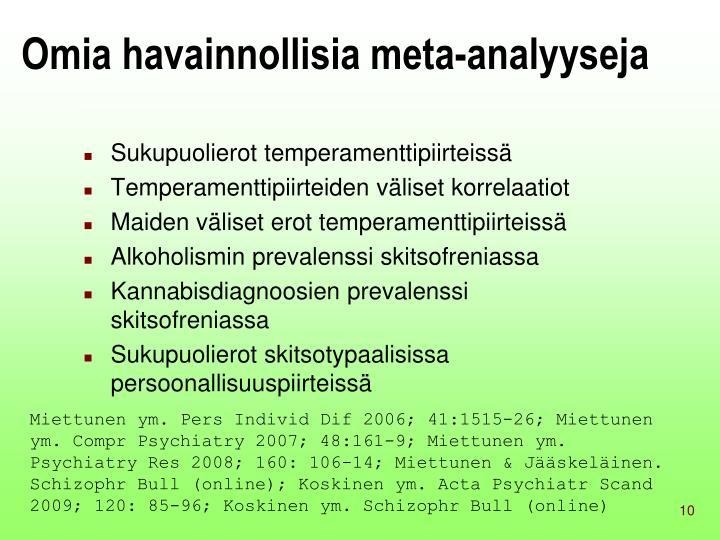 Omia havainnollisia meta-analyyseja