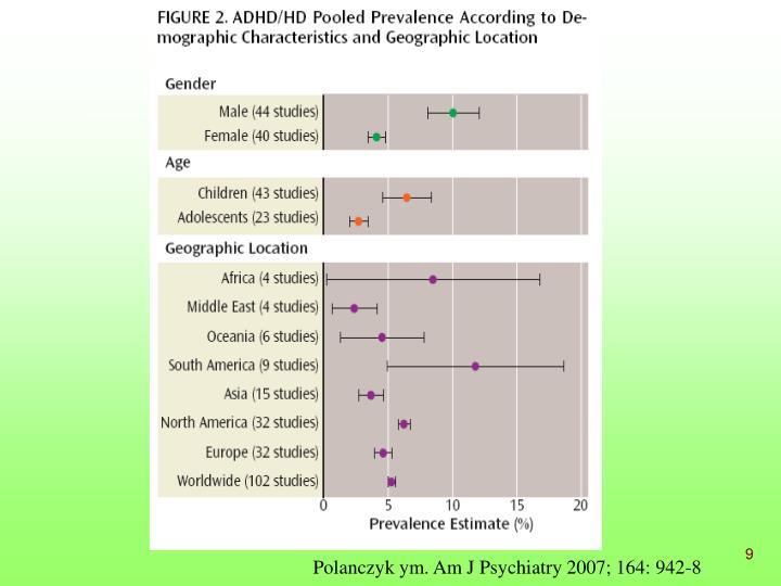 Polanczyk ym. Am J Psychiatry 2007; 164: 942-8