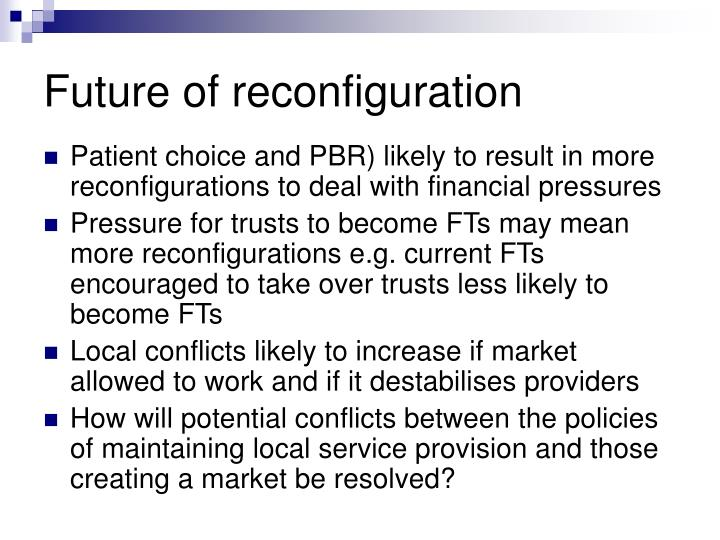 Future of reconfiguration