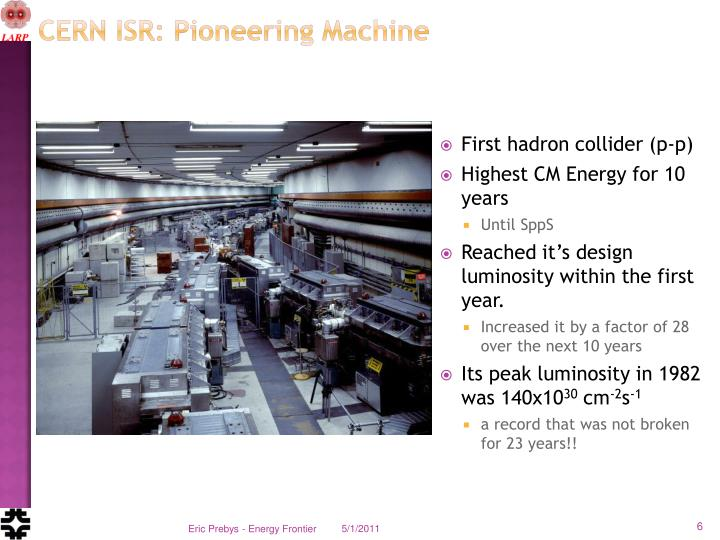 CERN ISR: Pioneering Machine