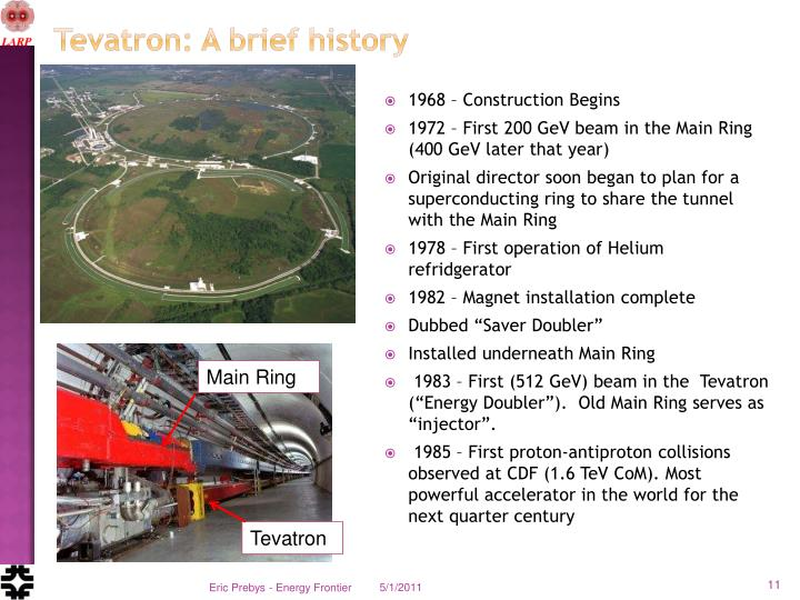 Tevatron: A brief history