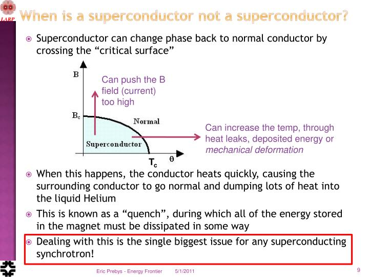 When is a superconductor not a superconductor?