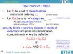 the product lattice
