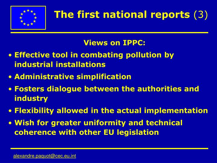 The first national reports