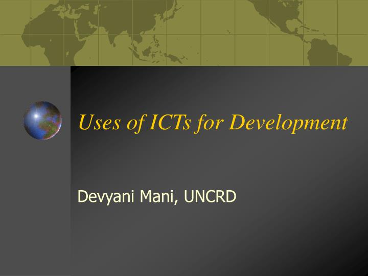 uses of icts for development n.