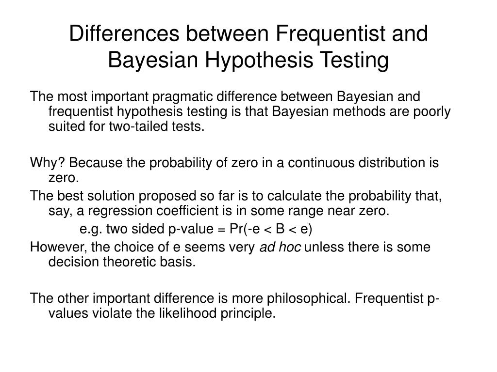 PPT - Bayesian Hypothesis Testing and Bayes Factors