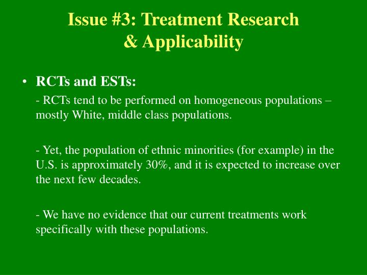 Issue #3: Treatment Research