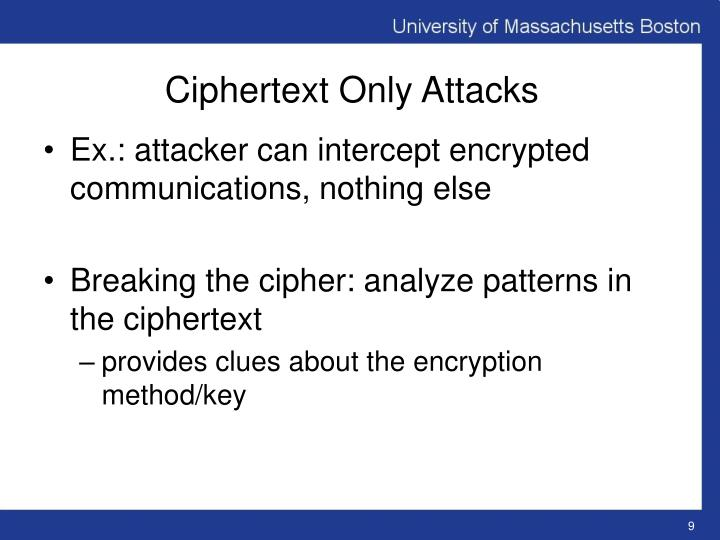 Ciphertext only attack pdf download