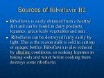 sources of riboflavin b2