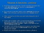 vitamin a functions continue1