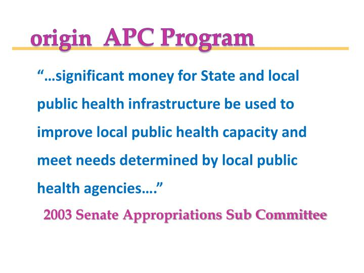 """""""…significant money for State and local"""
