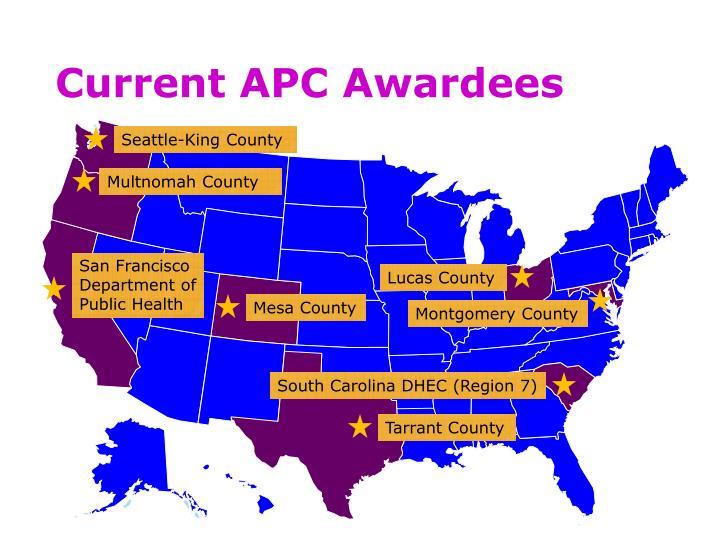 Current APC Awardees
