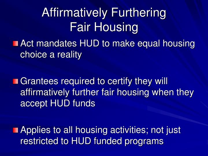 Affirmatively Furthering