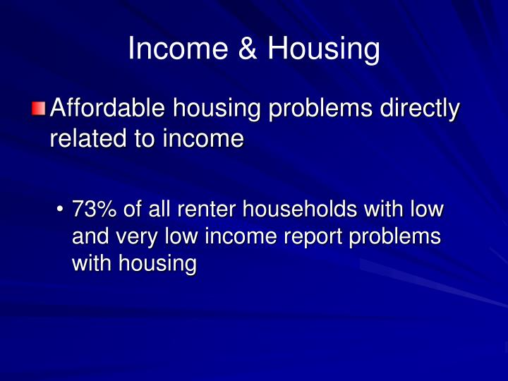 Income & Housing
