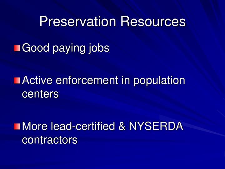 Preservation Resources