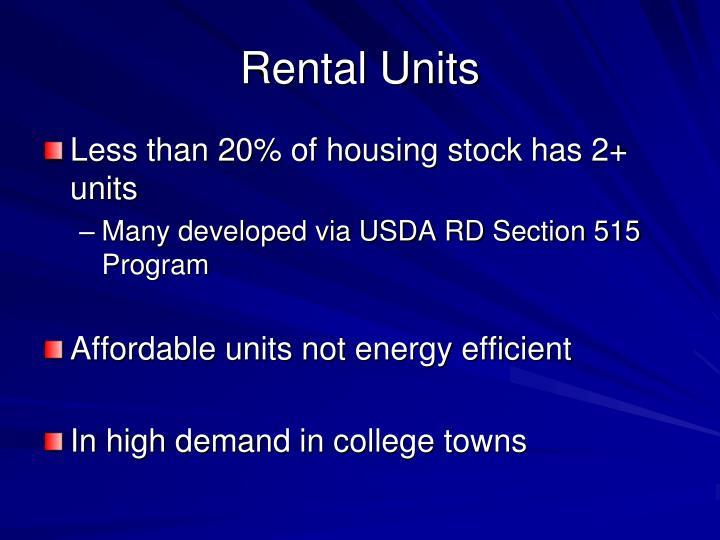 Rental Units