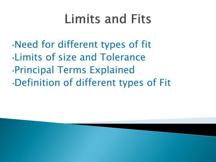 limits and fits n.