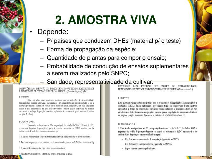 2. AMOSTRA VIVA