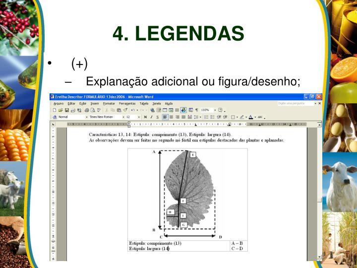 4. LEGENDAS