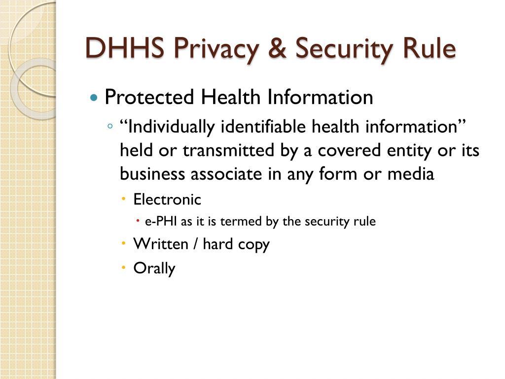 PPT - HIPAA/FERPA PowerPoint Presentation - ID:4023601