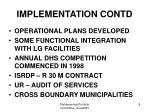 implementation contd