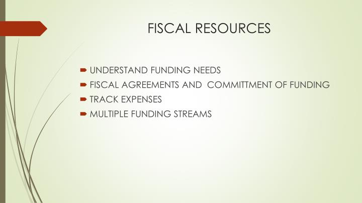 FISCAL RESOURCES