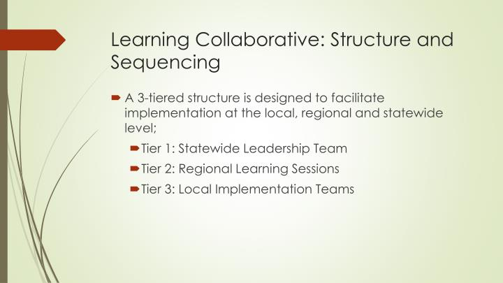 Learning Collaborative: Structure and Sequencing