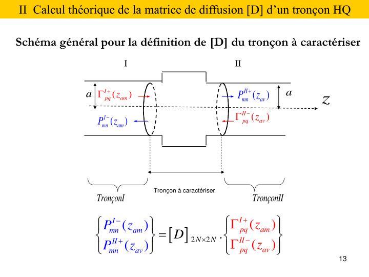 II  Calcul théorique de la matrice de diffusion [D] d'un tronçon HQ