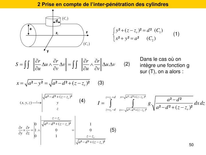 2 Prise en compte de l'inter-pénétration des cylindres