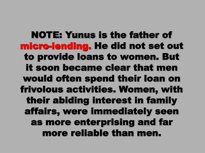 NOTE: Yunus is the father of