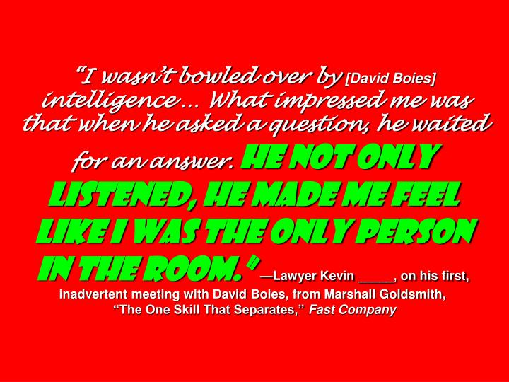 """I wasn't bowled over by"