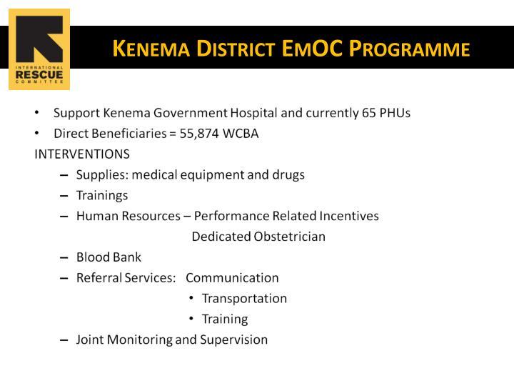 Kenema district emoc programme