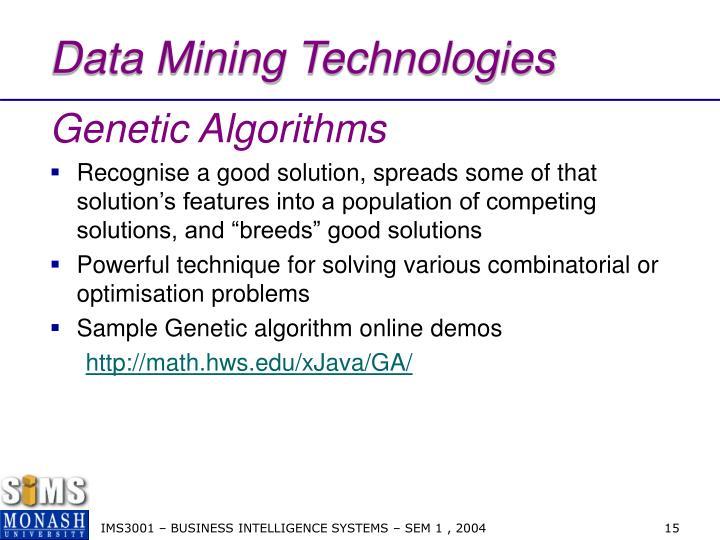 Data Mining Technologies